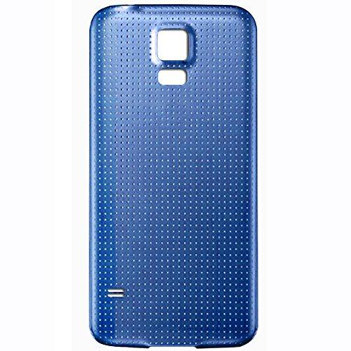 UU FIX Copri Batteria Back Cover per Samsung Galaxy S5 i9600 i9605(Azzurro) Posteriore Battery Door Ricambio.