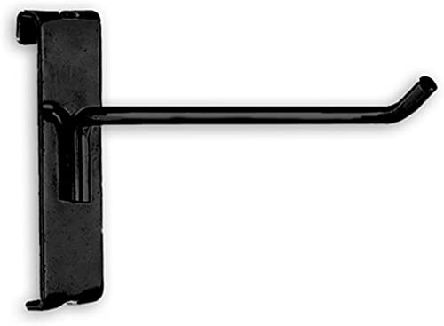 """6"""" Gridwall Hooks For Grid Panel Display - 50 Pcs Box - 1/4"""" Dia Wire - Standard Duty - Black Color"""