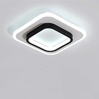 Goeco Plafonnier LED, Lampe de plafond carré nordique 20W pour Couloirs Salon Chambre à coucher, Diamètre 24cm, 3000K-6500...