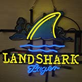 Desung Brand New 20'x16' Landshark Lager Beer Neon Sign (Various sizes) Beer Bar Pub Man Cave Business Glass Neon Lamp Light DB255