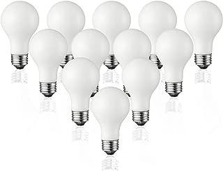 TCP Classic LED 60 Watt A19, 12 Pack, Energy Star, Daylight (5000K), 800 Lumens, Dimmable Light Bulbs