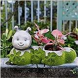Jardin Decoracion Adornos para Jardin Decoraciones de jardín Adornos Maceta de moda para el hogar al aire libre Personalidad creativa Maceta de jardín Maceta para plantas al aire libre - No incluye