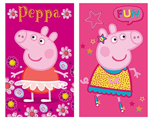 Toalla de manos para niños, toalla de cara Peppa Pig – Algodón – Regalo para niña (Peppa 01 – 30 x 50 cm)