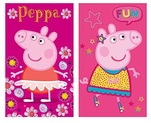 Kinder Handtuch Gästetuch Gesichtstuch Peppa Pig – Baumwolle - Geschenk für Mädchen (Peppa 01-30 x 50cm)