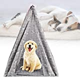 Haustier Tipi Hund Katze Zelt Atmungsaktiv Tragbare Haustiere Bett im/im Freien Spielhaus mit...