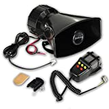 Zento Deals 80W Car Siren Horn Mic PA Speaker...