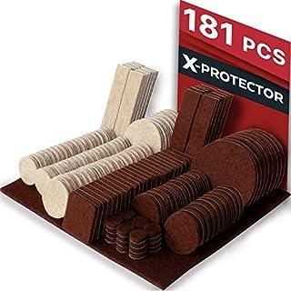 nicebuty 1/en redondo muebles almohadillas de fieltro para superficies duras 48/pcs protectores de piso