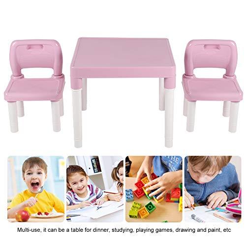 Wakects Juego de mesa y sillas para niños, mesa de juegos para...