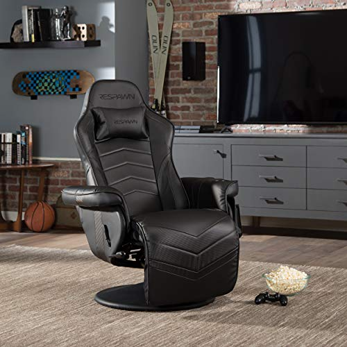 RESPAWN 900 Racing Style Gaming Recliner, Reclining Gaming Chair, in Black RSP 900 BLK