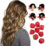ARTIFUN 10 PCS Hair Rollers Sponge Cute Strawberry Sleep in Hair Curler Soft Foam Hair Roller DIY Hair Styling Tools