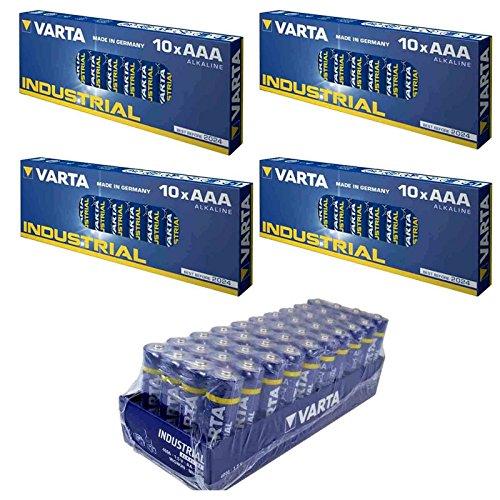 Varta Batterie Set 40 Stk AA Mignon + 40 x AAA Micro Alkaline Industrial Quality