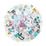 RosewineC 200PCS Scrapbooking Aufkleber, Dekoration Papier Aufkleber Vintage Stickerbögen für Fotoalbum Kalender Notizbuch Tagebuch DIY Dekoration