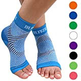BLITZU Plantar Fasciitis Compression Socks For Women & Men - Best Ankle and Nano Sleeve For Everyday Use - Provides Foot & Arch Support. Heel Pain, and Achilles Tendonitis Relief. BLUE L/XL