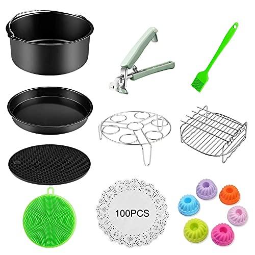 Benooa Set di 114 accessori per friggitrice ad aria, accessori per friggitrice per tutte le marche di accessori (3.7QT-5.8QT) (114 pezzi)