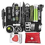 Profecional Kit de Supervivencia,para Viajar Caminar Acampar al Aire,Bolsa de Herramientas Multifuncional,Paquete de Supervivencia de Bolsa de Herramienta