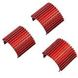 3Pack Mirthobby Aluminum 370 380 Brushless Brushed Electric Motor Heat Sink Heatsink Cooling Fins for 1/16...