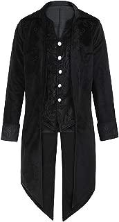 Funnygals - Mens Halloween Steampunk Victorian Jacket Gothic Tailcoat Costume Vintage Tuxedo Viking Renaissance Coats