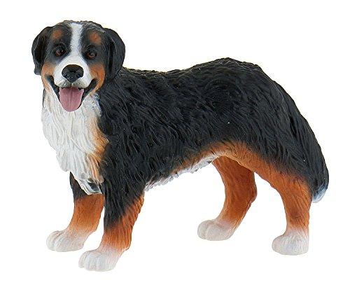 Bullyland 65449 - Spielfigur, Berner Sennenhund, ca. 5,4 cm, ideal als Torten-Figur, detailgetreu, PVC-frei, tolles Geschenk für Kinder zum fantasievollen Spielen
