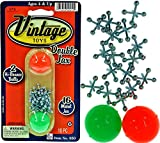 Vintage Metal Jacks Game Set Retro Toys (Pack of 1 Unist) Jax Game & 2 Balls Classic Games Great Party Favors or Pinata Filler Toy in Bulk. 950-1B
