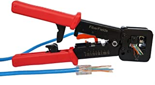 (All) in one piece RJ45 Professional Heavy Duty Crimp Tool by Fiberfields for pass through and legacy Connector (tools only)