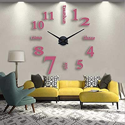 Kamas 2019 3D Wall Clock Large Size Fashion Home Living Room Bedroom Dining Room Decoration Acrylic