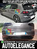 Generico Flaps sotto PARAURTI Posteriore Golf 7 VII GTI DEFLETTORE ABS Look Sport