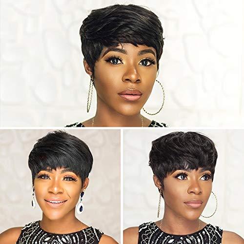 AINIA Short Straight Human Hair Wigs Cut for Women 10 Max 85% OFF Pixie Award-winning store