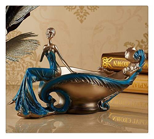Aiglen Estante de Vino, Estatua de Belleza nórdica, Estante de Vino Tinto, decoración del hogar Vintage Europea, Accesorios de decoración del hogar, Moderno (Color : Blue)