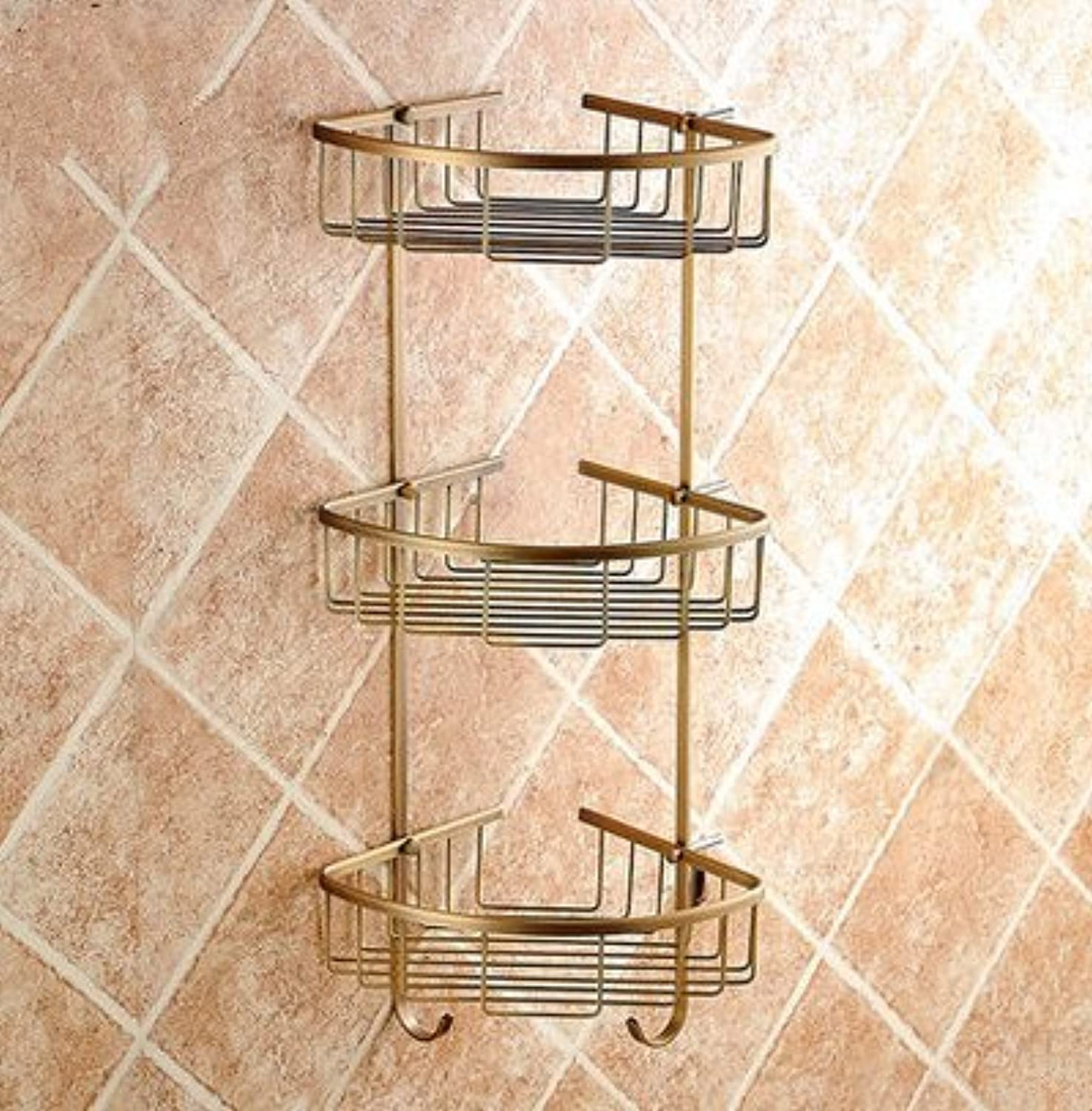 Antique bathroom copper triangle rack-@wei