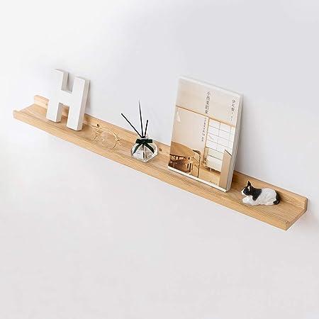 Inman Home - Estante flotante de madera de roble macico, con soporte oculto, 30,5 cm, 4 pulgadas de ancho., marrón, 36 pulgadas