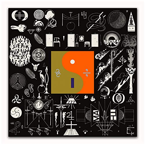 Sanwooden Plakate und Drucke Bon Iver 22 Eine Million Rockmusik Band Abstrakte Künstler Cover Art Poster Leinwand Malerei Wohnkultur -70x70cm Kein Rahmen