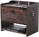 ksamwjf Caja Soporte de enrutador WiFi Set-Top Montaje en Pared Soporte de enrutador WiFi Caja de Almacenamiento de enrutador Soporte de Estante para Accesorios de TV Enrutador WiFi Caja de TV