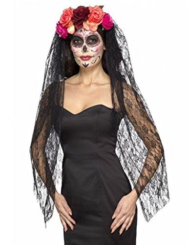 Boland Diadème de la Madrina avec Fleurs et Voile pour Halloween