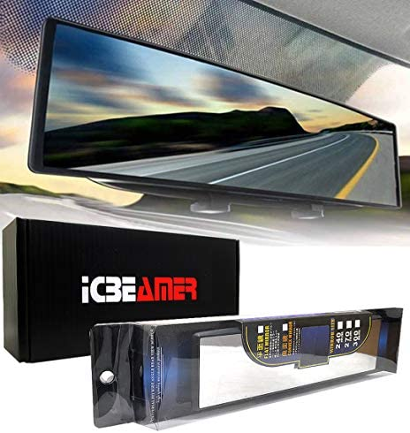 ICBEAMER 10 6 270mm Easy Clip on Wide Angle Panoramic Blind Spot Fit Auto Interior Rearview product image