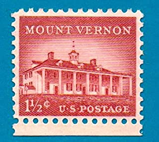 Used Collectible US Postage Stamp (1954) 1 1/2 cent - Mount Vernon - Scott #1032