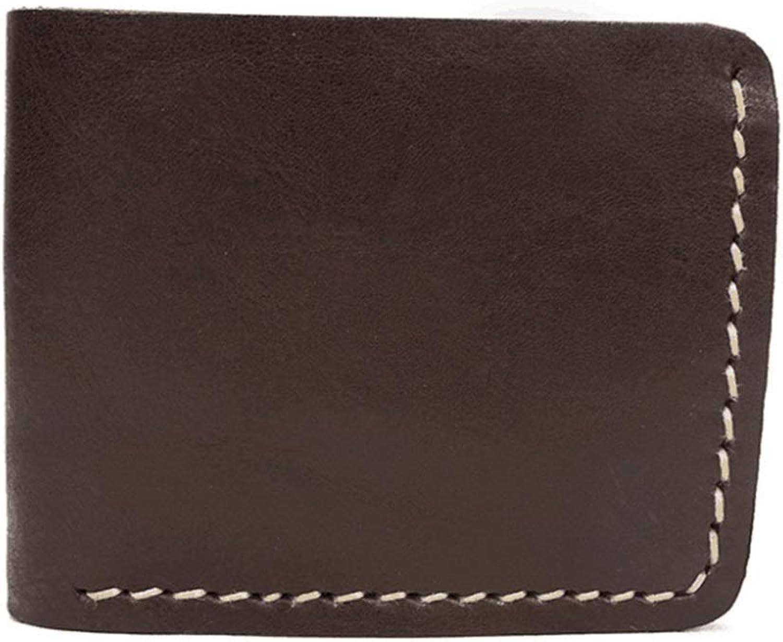 Haxibkena Männer echtes Leder Brieftasche RFID Blocking Bifold ID Brieftasche Schlank Krotitkarteninhaber Minimalist (Farbe   braun2) B07MP4HRHM
