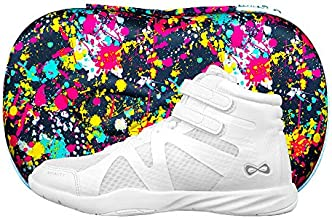 Nfinity Beast Mid-Top Cheer Shoe - All-Surface Cheerleading - High Ankle - White Y3