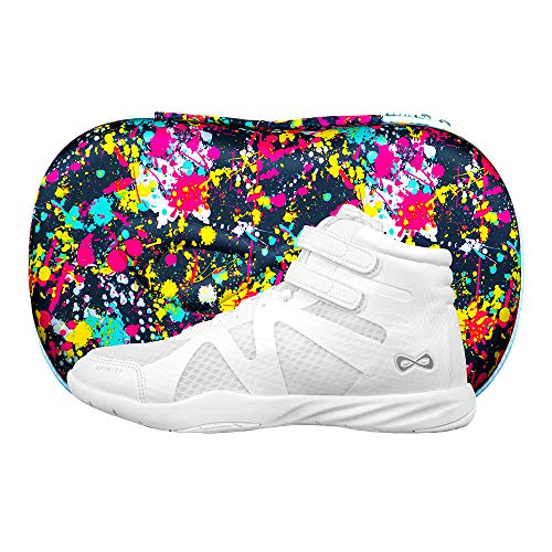 Nfinity Beast Mid-Top Cheer Shoe - All-Surface Cheerleading - High Ankle - White A8.5