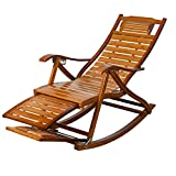 NUBAO Freizeit Gürtel Schaukelstuhl Bambus Schaukelstuhl Alten Mittagspause Stuhl Stuhl Massivholz Schaukelstuhl Faul Stuhl Sessel