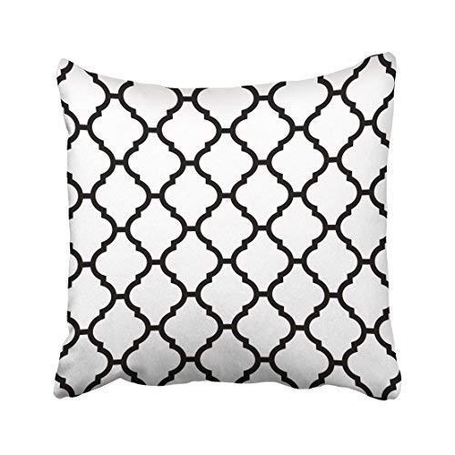 GFGKKGJFD313 Funda de almohada decorativa para el hogar, 20 x 20 cm, diseño marroquí abstracto, en blanco y negro, fundas de cojín geométrico decorativas, cuadradas, para sofá, hogar, accesorios, regalos