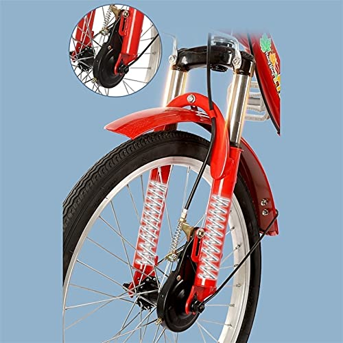 zyy Adult Tricycle 1 Speed Size Cruise Bike 20 Inch Adjustable Trike with Brake System Cruiser Bicycles with Low Step-Through with Cruiser Bike Seat and Bike Basket Exercise Bike (Color : Red)