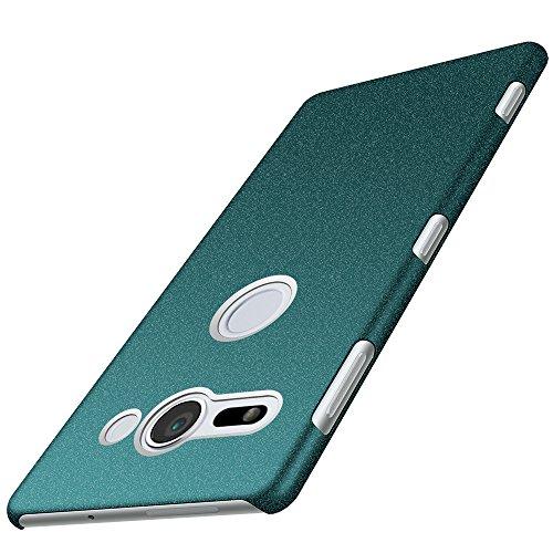 Anccer Funda Sony Xperia XZ2 Compact [Serie Colorida] [Ultra-Delgado] [Ligera] Anti-rasguños Estuche para Case Sony Xperia XZ2 Compact (Grava Verde)