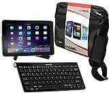 Navitech Tablet Tasche in Schwarz mit Hybrid Set: Bluetooth Keyboard mit Tablet – Ständerfür das 8 Zoll MEDION LIFETAB S8312 (MD 98989) Tablet wie bei ALDI