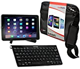Navitech Tablet Tasche in Schwarz mit Hybrid Set: Bluetooth Keyboard mit Tablet – Ständerfür das ASUS MeMO Pad HD 8 (ME180A) / ASUS MeMO Pad 8 (ME181C) / Asus VivoTab Note 8