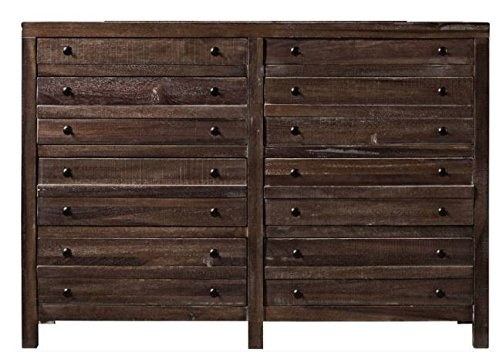 Modus Furniture Townsend Solid Wood 8-Drawer Dresser, Java