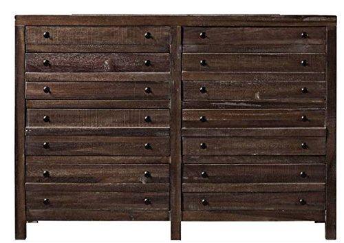 Modus Furniture Townsend Solid Wood 8-Drawer Dresser, Java