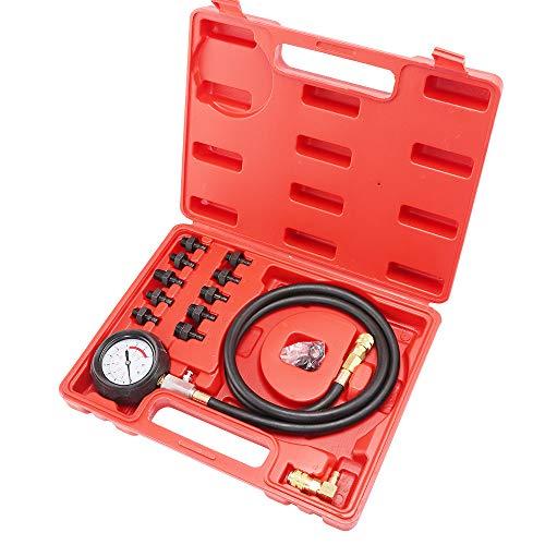 BALLSHOP Öldruckprüfer Öldrucktester Set Öldruckmesser Öl-Meßgerät Prüfer Werkzeug KFZ