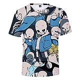 Undertale Camisetas Moda T-Shirt Camiseta Tops de Manga Corta Juego de Personalidad Camisetas de impresión de Dibujos Animados Camisetas básicas Remeras Tops (Color : A04, Size : M)