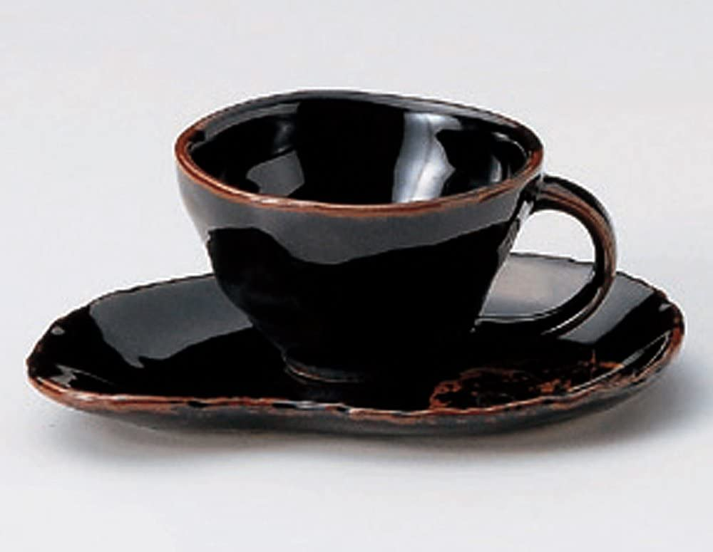 TENMOKU-KONOHA 3.7inches Set of 5 Japanese SaucersJiki Finally resale start At the price Or Cups
