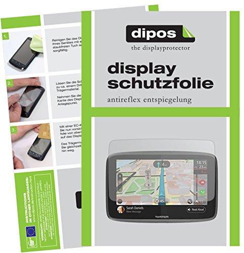 dipos I 3X Schutzfolie matt kompatibel mit Tomtom Go 620/6200 Folie Displayschutzfolie